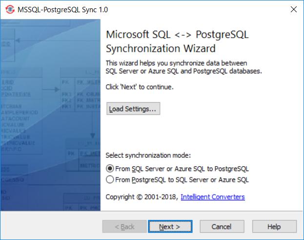 MSSQL-PostgreSQL Sync